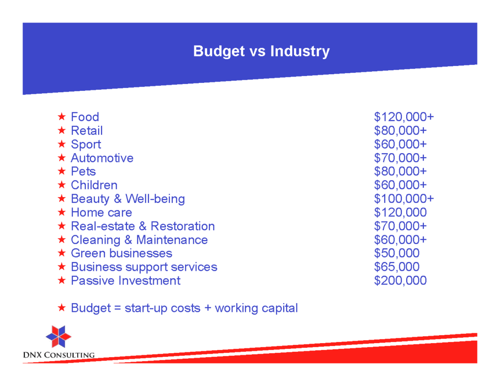 dnx-franchises-usa-budget-per-industry